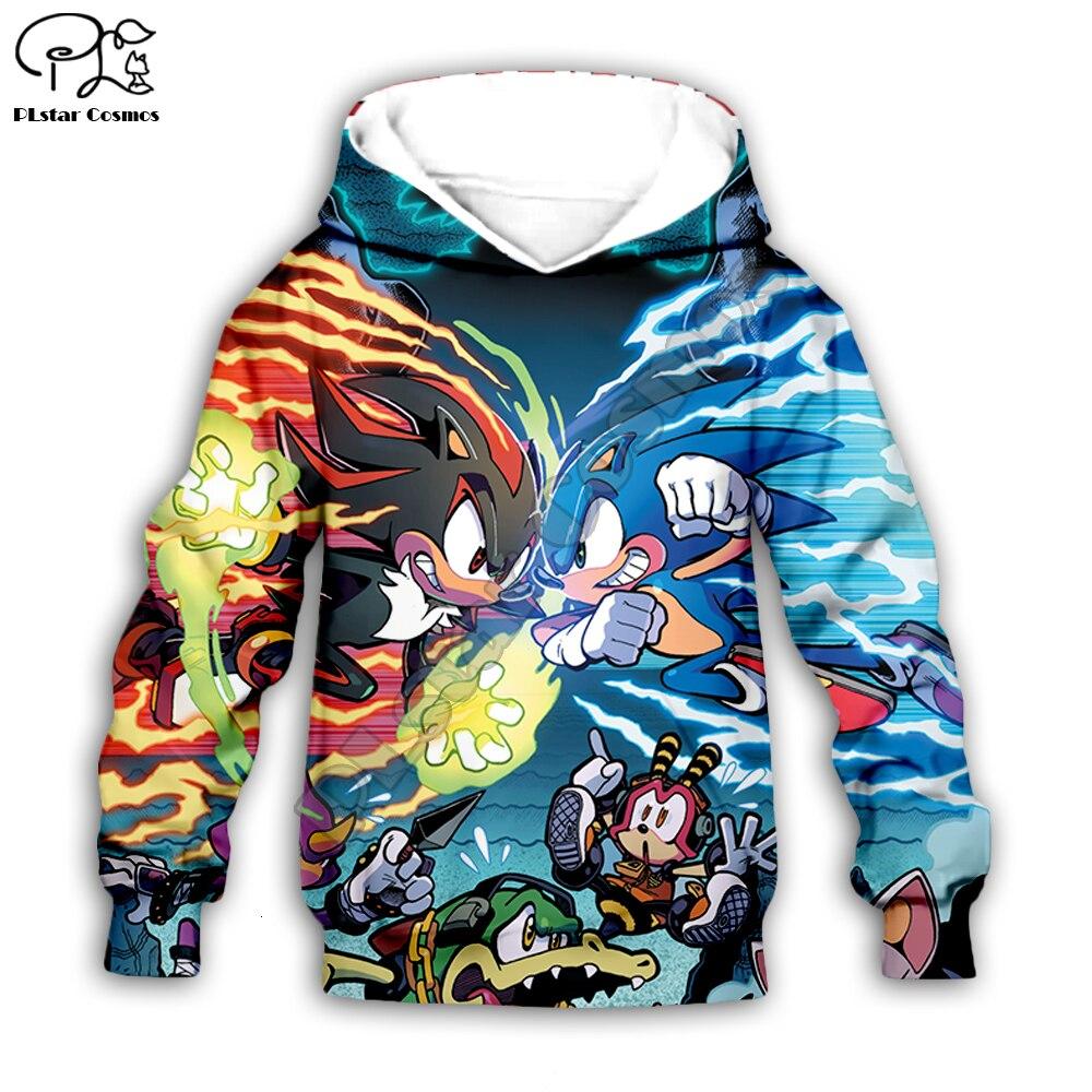 Kids Super Sonic The Hedgehog Print 3d Galaxy Hoodies Set Cartoon Baby Anime Sweatshirt Boys Children Zipper Coat Pants Matching Family Outfits Aliexpress