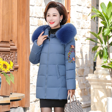 Winter jacket women parkas high quality winter female coat  fashion long slim embroidery  women jacket parkas plus size S-5XL