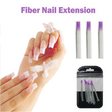 10 stks/pak Nail Form Fiber Rnail Acryl Glasvezel Extension Glasvezel voor Nail Zijde Building Extension Manicur Sticker Nail(China)