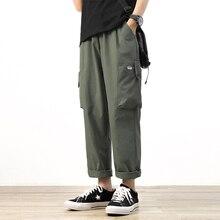 Harem-Pants Joggers Trouers Oversize Streetwear ANKLE-LENGTH Green Casual Mens Autumn