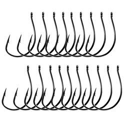 20pcs/lot Drop Shot Hook #3 #2 #1 #1/0 #2/0 Stainless Steel Offset Wacky Hooks Crank Worm Fishhook Fishing Accessories