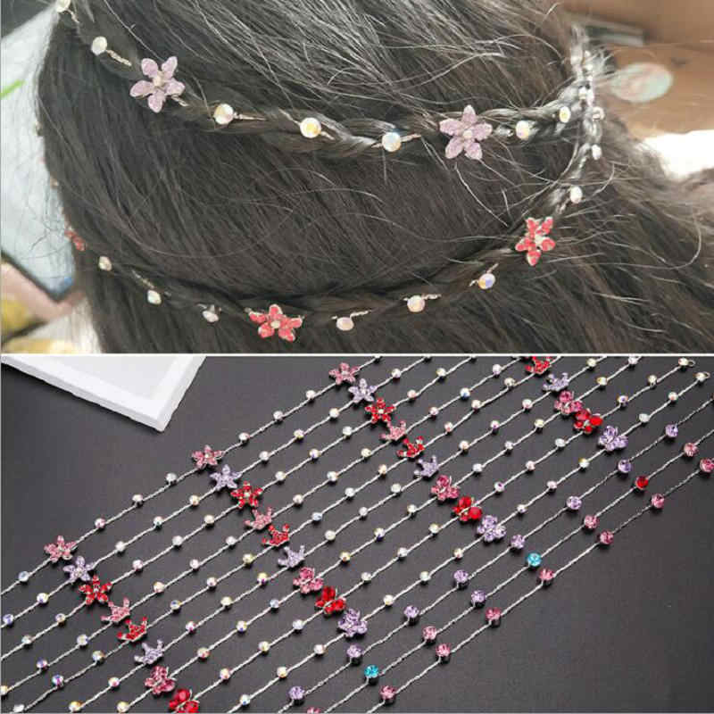 2020 nova menina extensão do cabelo strass ferramenta glitter trança hairpin nupcial casamento acessórios para o cabelo