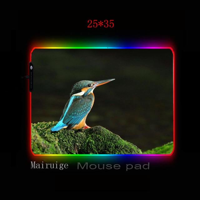 Фото mairuige животное бирюзовая птица большой rgb игровой коврик
