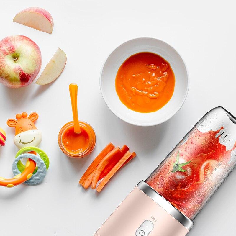 Deerma персональная портативная соковыжималка, блендер, фрукты 21000 DC, электрический миксер без бисфенола А, бутылка, USB перезаряжаемая соковыжималка 5