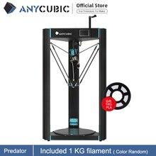 Predador ANYCUBIC 3D Impressora Maior Polia 370x370x455mm Auto Nivelamento Kit DIY Impressora de Grande Metal 3D impresora 3d