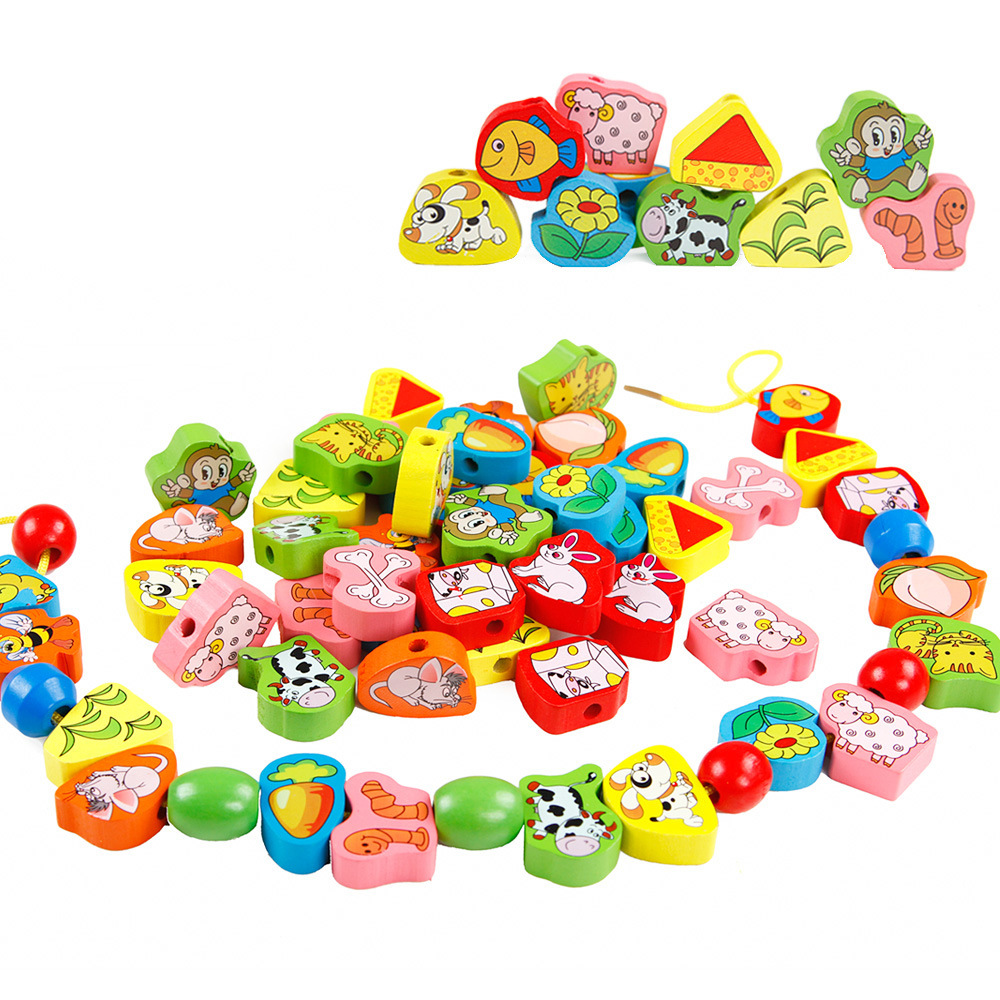 Bead Toy Large Size Children Early Childhood Educational DIY Baby Boys And Girls 1-3 A Year Of Age Building Blocks Bead-stringin
