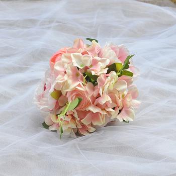 TRiXY F15 uroda bukiet ślubny kwiaty akcesoria ślubne bukiety ślubne róże bukiety ślubne do dekoracji druhen tanie i dobre opinie Poliester Wiskoza 30cm 18cm 0 18kg as picture Wedding Bouquet 18CM 7 08IN wedding Valentine s Day Wedding Flower Bridal Bouquet