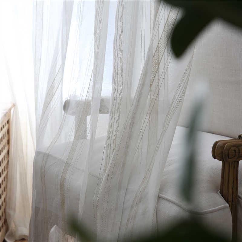 Moderne Tüll Vorhänge Für Wohnzimmer Gestreiften weiß schlafzimmer vorhang Fenster Vorhänge Für Schlafzimmer Küche vorhänge kinderzimmer vorhang