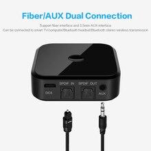 Bluetooth 5.0 hd receptor transmissor de áudio suporta 3.5mm aux spdif tv digital adaptador sem fio