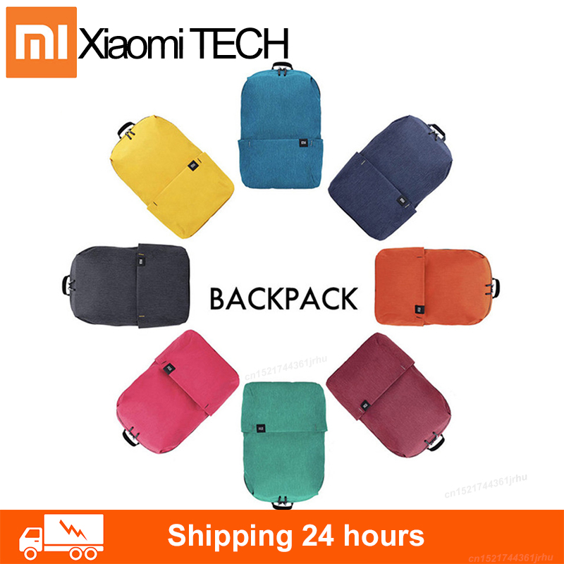 100% original Xiaomi Mi colorful color bag backpack 8 color 10L bag 165g weight small size one shoulder leisure sports chest bag image
