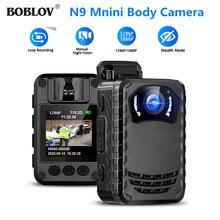 BOBLOV N9 Körper kamera mit audio IR nachtsicht verwendet externe SD Max 256GB DVR Aufnahme Kamera Kleinste bodycam polizei kamera