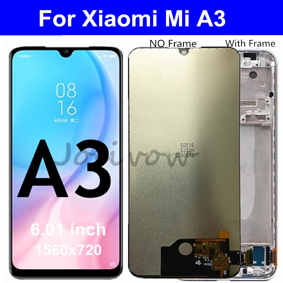 For Xiaomi Mi A3 LCD Display Touch Panel Screen Digitizer Assembly Replacements For Xiaomi MiA3 LCD M1906F9SH M1906F9SI