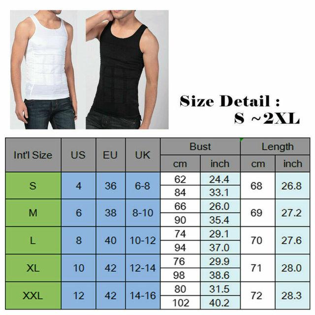 Ultra Lift Body Slimming Shaper For Men Chest Compression Shaper Vest Top Sweat Shirt Slim Tank Tops Tummy Belly Trimmer Shirt 5