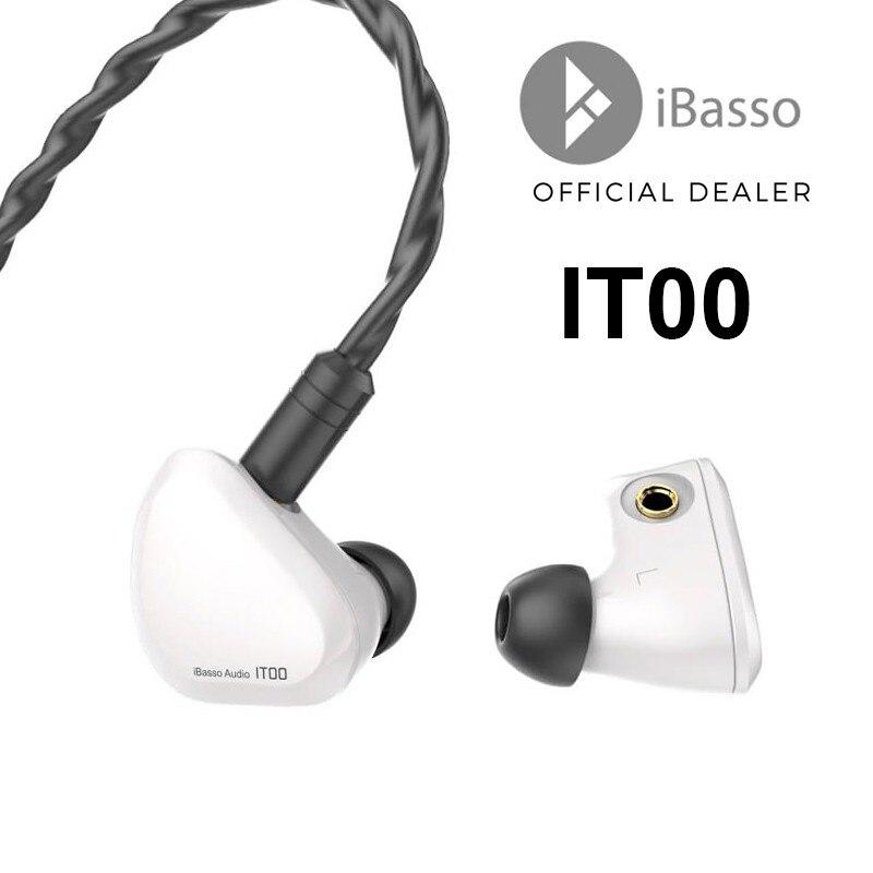 Ibasso it00 fone de ouvido febre in-ear fone de ouvido duplo-câmara it01 bobina movente grafeno 3.5mm plug fones de ouvido