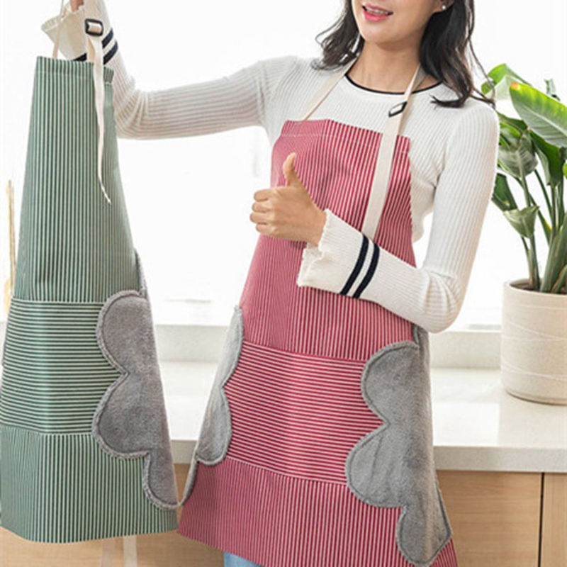 1pcs Waterproof Oil Proof Erasable Hand Kitchen Apron Waist Female Restaurant Work Gown Chef Bib Household Cleaning Tool ZXX9232