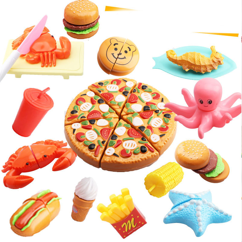 Кухня ролевые игры пластиковая пищевая игрушка резка фрукты овощи еда ролевые игры сделать дом Образование игрушка для детей подарок