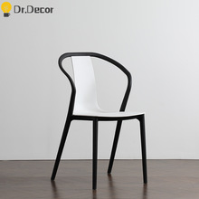 Modern Minimalist Home Furniture Creative Plastic Chair Nordic INS Outdoor Casual Restaurant Conference Comedor Office Chairs