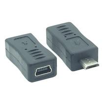 Yüksek kaliteli mikro USB B erkek Mini USB kadın M/F adaptör konnektör dönüştürücü 2 adet/grup