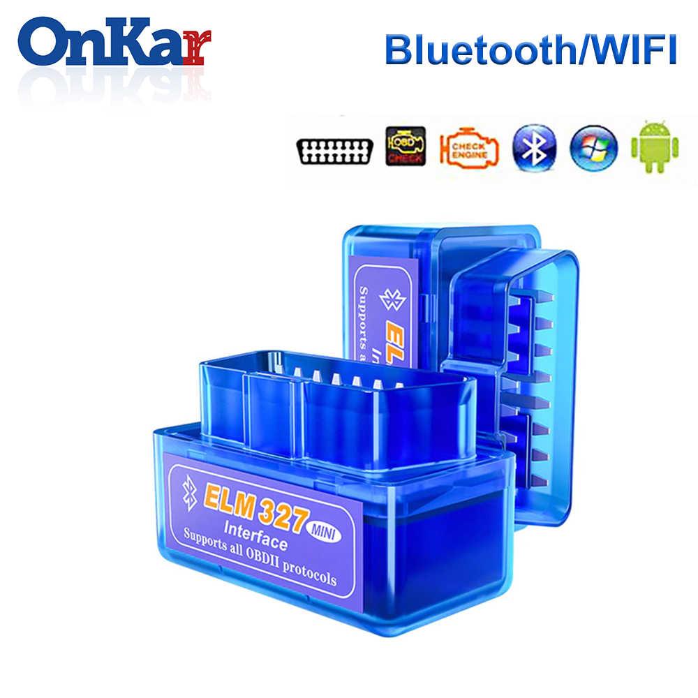 ONKAR 2020 Scanner OBD2 Bluetooth Wi-fi OBD Mobil Alat Diagnostik Kode Reader untuk Android Head Unit Radio Auto Scan Adaptor