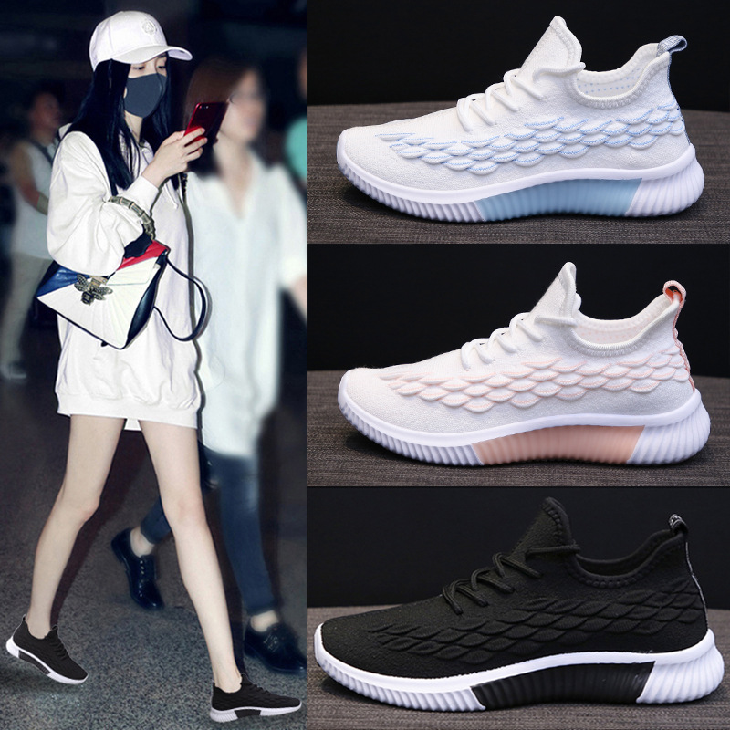 Sneakers Fashion Spring Summer Sports Shoes Women Light Breathable Mesh Casual Shoes Ladies Flats Feminino Running Shoes