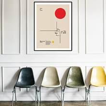 Poster Ziegel Land Haus Ludwig Mies van der rohe Minimal Architektur Bauhaus Design Wand Kunst