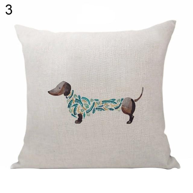 Sausage Dog Pillow Throw 5
