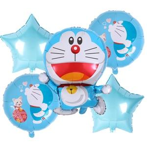 Мультяшные воздушные шары из фольги Doraemon, 18 дюймов, Гелиевый шар в виде кота, товары для украшения дня рождения