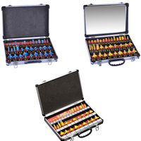 35 Pcs Router Bits1/4 1/2 Inch Router Bits With Carry Case Alloy Shank Router Bit Set Woodworking Milling Cutter Tools Tool Set