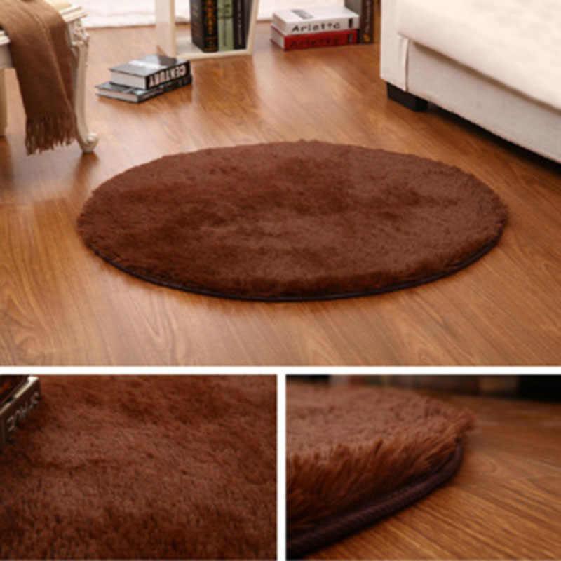 Горячий круглый ковер 40 см Противоскользящий стул для спальни подушка коврик для йоги коврик для пола Коврик для гостиной Детская комната чехол для игры