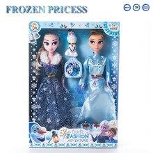 Anime 3pcs Disney Frozen Kawaii Dolls Frozen 2 Princess Elsa Anna Olfa Plastic Baby Figure Dolls for Girls Christmas Gift Toys