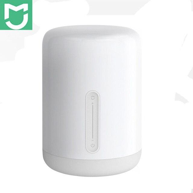 シャオ mi mi 嘉ベッドサイドランプ 2 スマートライト音声制御タッチスイッチ mi ホームアプリ Led 電球アップル homekit Siri & xiaoai 時計