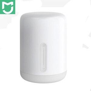 Image 1 - שיאו mi mi jia מנורה שליד המיטה 2 חכם אור קול בקרת מגע מתג mi בית app Led הנורה עבור אפל homekit Siri & xiaoai שעון