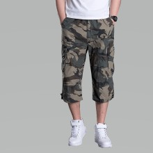 Men Cargo Pants Short Multi Pocket Military Camouflage Joggers Breeches Tactical Camo Plus Size
