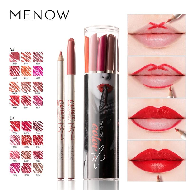 New Lipstick Makeup Lip Liner Lip Pencil Moisturizing Long-lasting Beauty Matte Waterproof 12 Colors Women Cosmetic