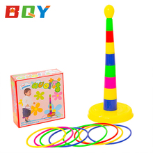 BQY Colorful Plastic Sport Ring Toss Game Set Classic Ring Toss Game Outdoor Quoits Game Throwing Rings Set for Kids or Family brybelly holdings sout 103 touchdown toss cornhole set