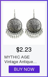 MYTHIC AGE Tibetan Silver Color Carved Flower Vintage Ethnic Drop Dangle Earrings Retail Jewelry Jewellery Gift For Women Girls 12