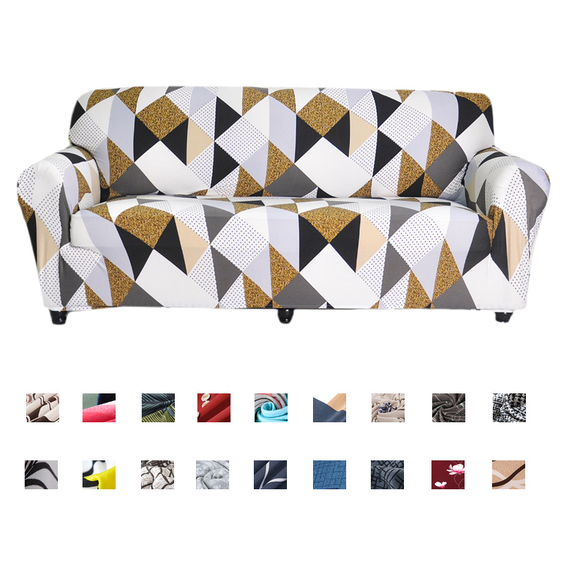 Stretch Sofa Covers Furniture Protector Polyester Loveseat Couch Cover L 1/2/3/4-seater Arm Chair Covers  For Living Room