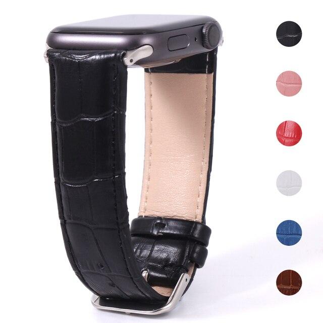 Кожаный ремешок для Apple Watch 38-44 мм 1