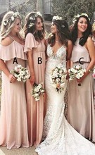 2019 Sexy Women Bridesmaid Dresses Vestido Dama De Honor Boda Wedding Guest Dress  Long Formal Party Dress