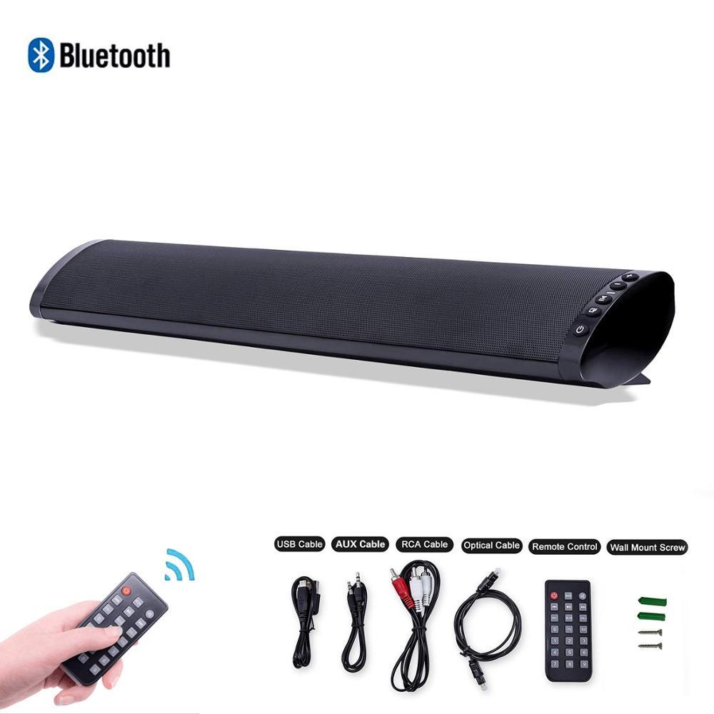 Haut-parleur de barre de son TV avec Audio optique numérique filaire entrée de carte RCA AUX USB TF avec voix Surround stéréo basse à distance