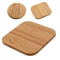 Tragbare Qi Wireless-ladegerät Schlank Holz Lade Pad Für Apple iPhone 8 Plus X Drahtlose Telefon Ladegerät Für Samsung S6 s7 S9 S8