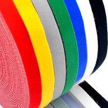 Самоклеящаяся клейкая лента Velcros, многоразовые прочные крючки, петли, кабельные стяжки, аксессуары «сделай сам», 5 метров/рулон, 15/20 мм