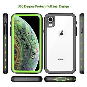 Image 5 - IP68 su geçirmez telefon kılıfı için Apple iPhone 11 X XR XS Max sualtı temizle kılıf kapak iPhone 6 7 8 artı su geçirmez kılıf