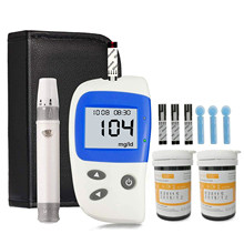 Diabetic blood glucose meter Medical Blood Sugar Detection Meter Kit & 50 Test Strips and 50 Lancets, Sugar Machine No Coding
