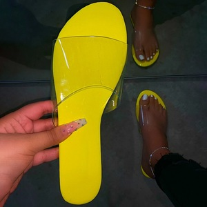 Fashion Women Slippers Slides Clear Transparent Jelly Shoes Outdoors Female Sexy Summer Beach Shoes 2020 Female Footwear