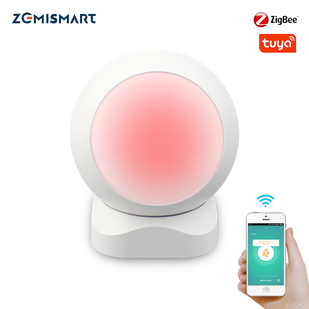 Zemismart Tuya Zigbee PIR  Infrared PIR Motion Detection Smart Sensor Wireless  Security Alarm Detector System