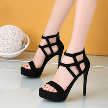hollow out sandals women platform high heels shoes woman sex
