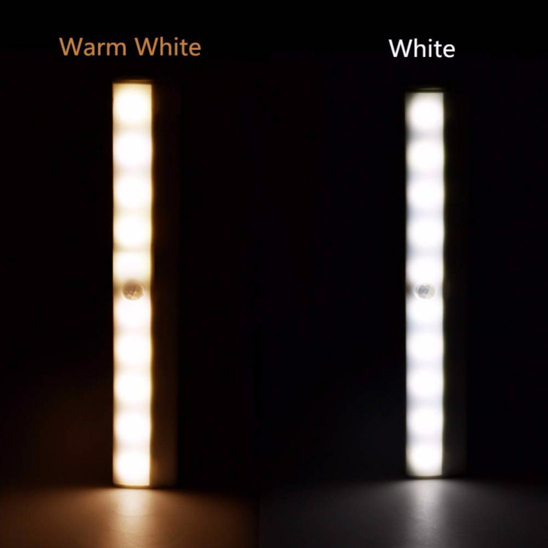10 LED PIR Motion Sensor Light Stick-on Wardrobe Cabinet Closet Night Lamps White/warm White Nightlight Lamp For Home Bedroom