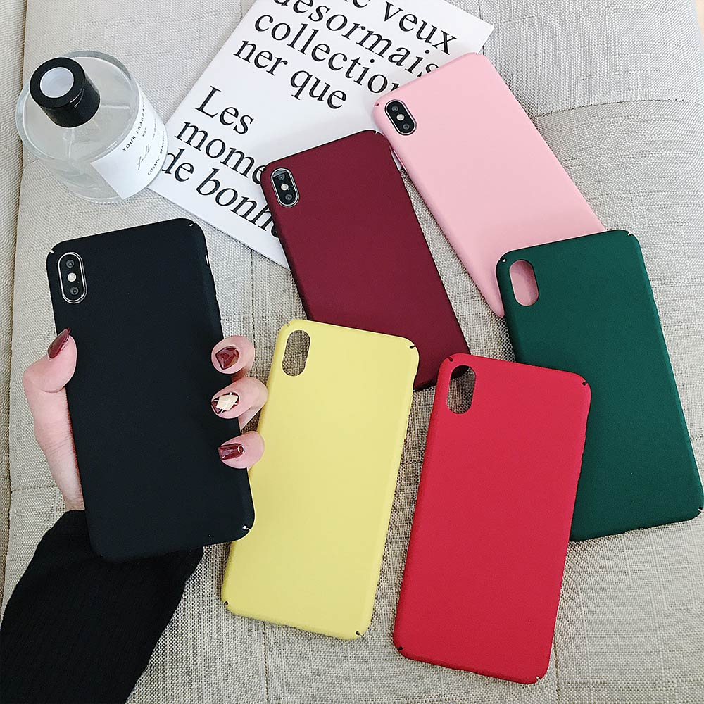 Matte Phone Case Anti-Fingerprint For Xiaomi Mi 9SE/5/6/8/Play/F1 Frosted Hard PC Back Cover Coque Fundas For Redmi Note 7/6/4X