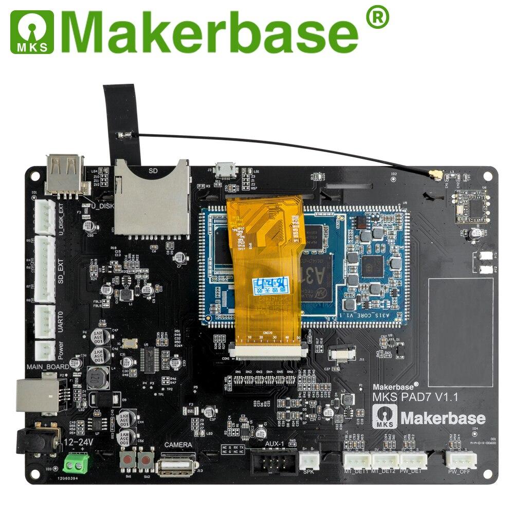 Makerbase MKS Pad7 affichage intelligent capacitif 7.0 pouces Android Pad 3D imprimante pièces gcode visualiseur en ligne tranche impression à distance - 3